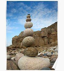 Balanced Cornish Granite Poster