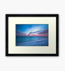 If By Sea - Sunset on the Beach Near Destin Florida Framed Print