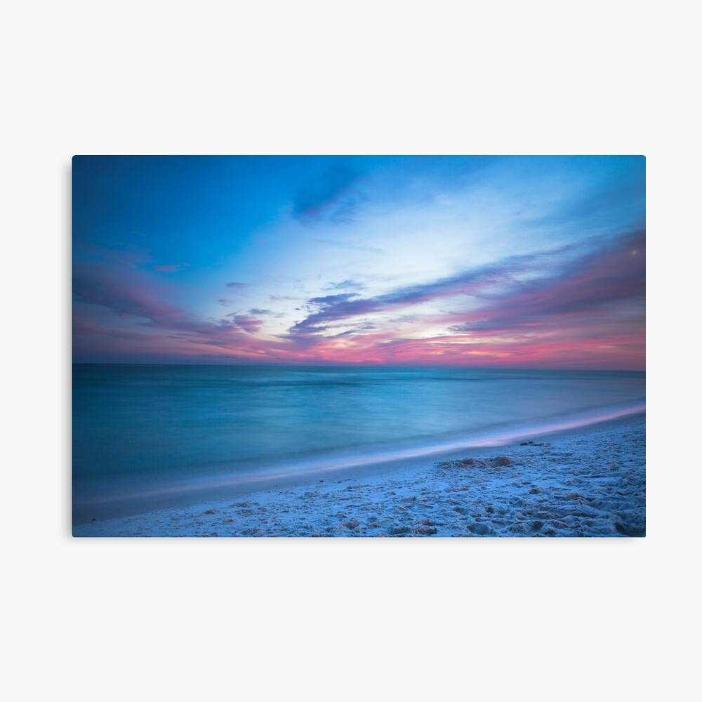 Wenn durch Meer - Sonnenuntergang am Strand in der Nähe von Destin Florida Leinwanddruck