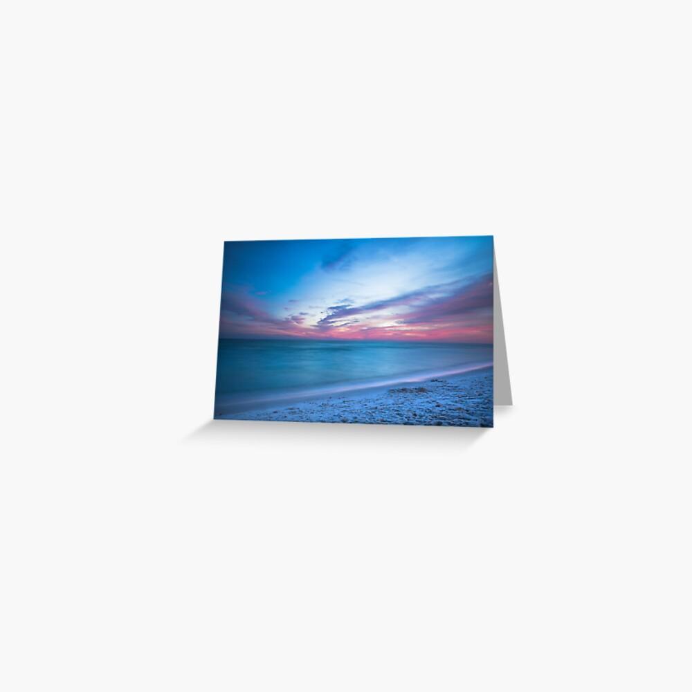 Wenn durch Meer - Sonnenuntergang am Strand in der Nähe von Destin Florida Grußkarte