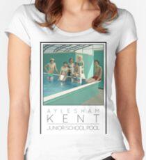 Lido Poster Aylesham Junior School Women's Fitted Scoop T-Shirt