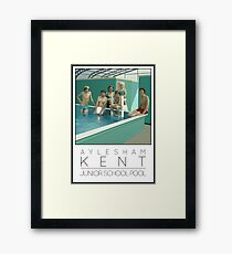 Lido Poster Aylesham Junior School Framed Print