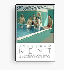 Lido Poster Aylesham Junior School Canvas Print