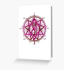 Slip Knot - Rock'n Roll Band Pink Greeting Card