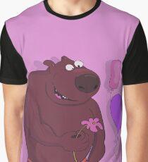 "Print ""Romantic Bear"" Graphic T-Shirt"