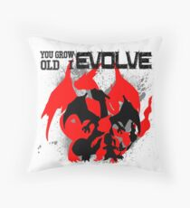 Charizard Evolve Pokemon Throw Pillow