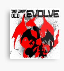 Charizard Evolve Pokemon Metal Print