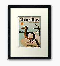 MAURITIUS; Vintage Travel and Tourism Print Framed Print