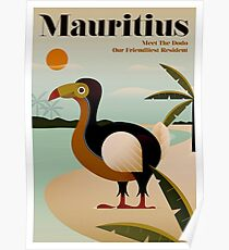 MAURITIUS; Vintage Travel and Tourism Print Poster