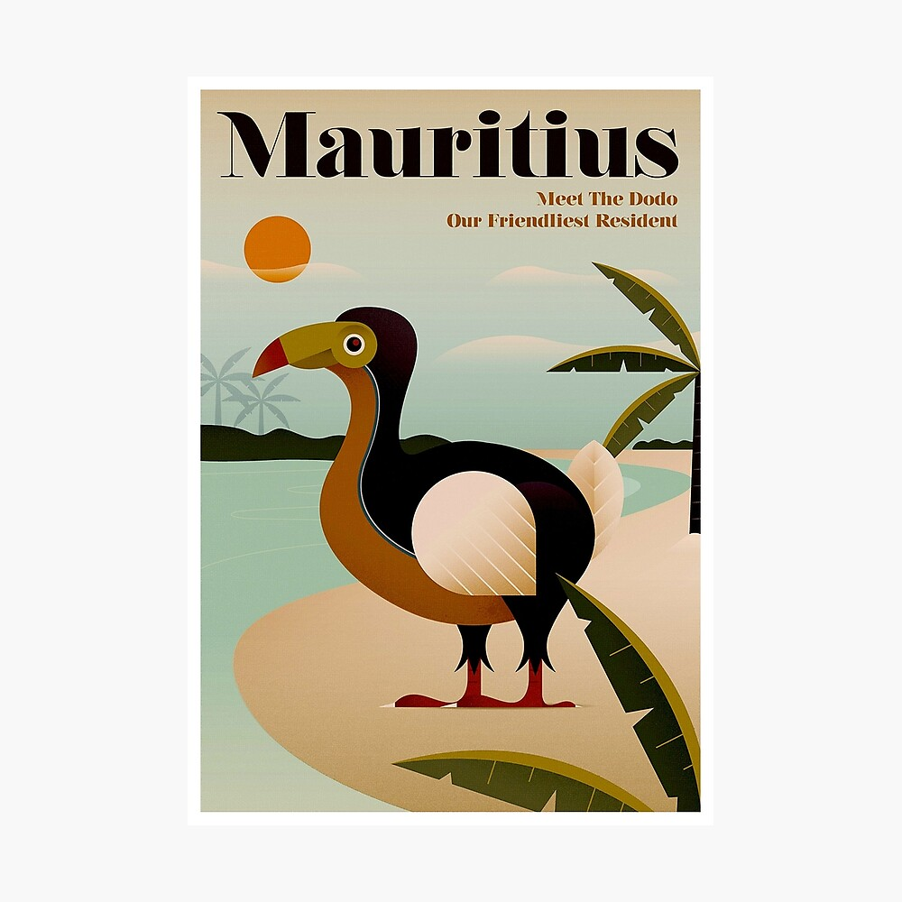MAURITIUS; Vintage Reise- und Tourismusdruck Fotodruck