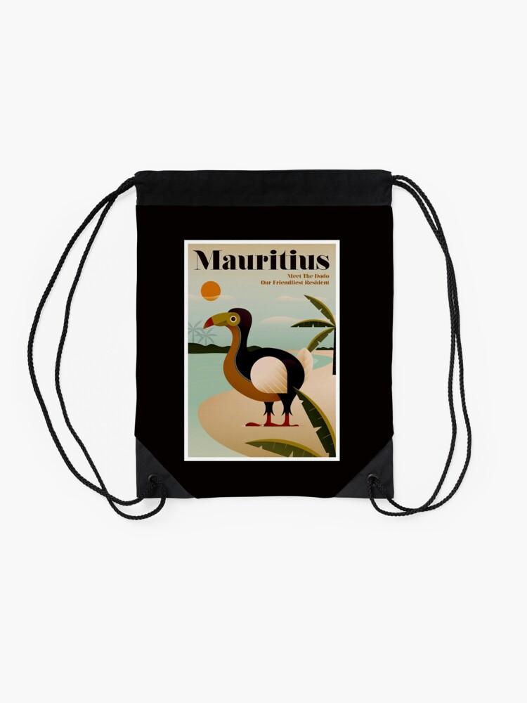 Vista alternativa de Mochila saco MAURICIO; Viaje de la vendimia y impresión del turismo