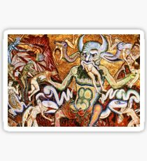 Beezelbub in Hell by Coppo Di Marcovaldo oil painting Sticker