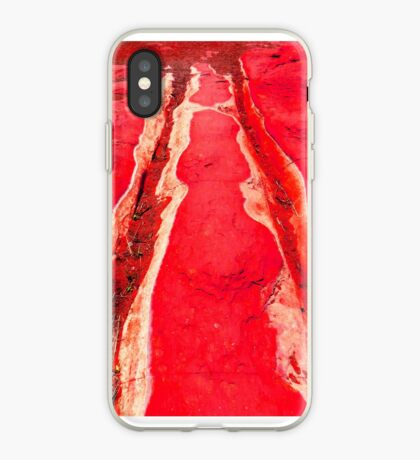 Riverbed in Red iPhone Case