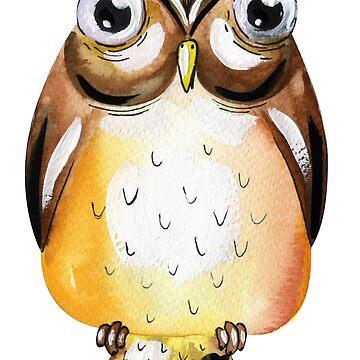 Cute Owl Illustration by cutecutedesigns