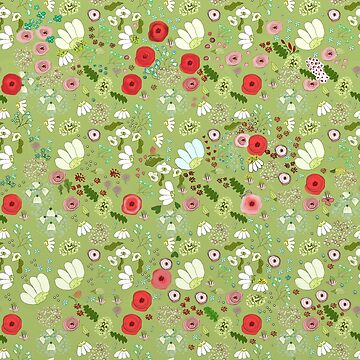 flower garden doodle pattern by Valiante