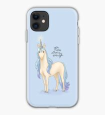 """You Are Strong Enough"" Unicorn iPhone Case"