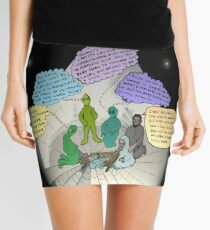 3 E.T. wise men visit Bethlehem in a Starship from the east Mini Skirt