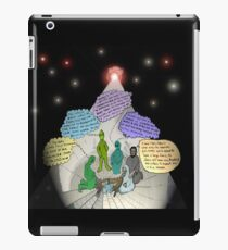 3 E.T. wise men visit Bethlehem in a Starship from the east iPad Case/Skin