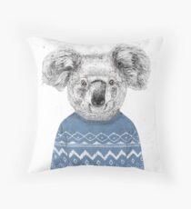 Winter koala Throw Pillow