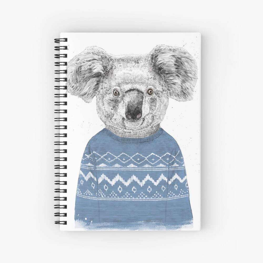 Koala de invierno Cuaderno de espiral