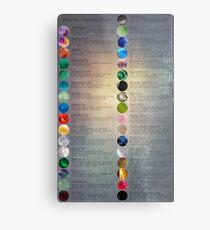 Heilende Kristallkarte Metalldruck