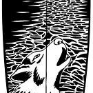 Surf Wolf T Shirt by Fangpunk