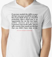 """If you just...""""Ruth Bader Ginsburg"""" Inspirational Quote Men's V-Neck T-Shirt"""