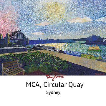 MCA - Circular Quay Sydney. white w/black text by tobycentreart