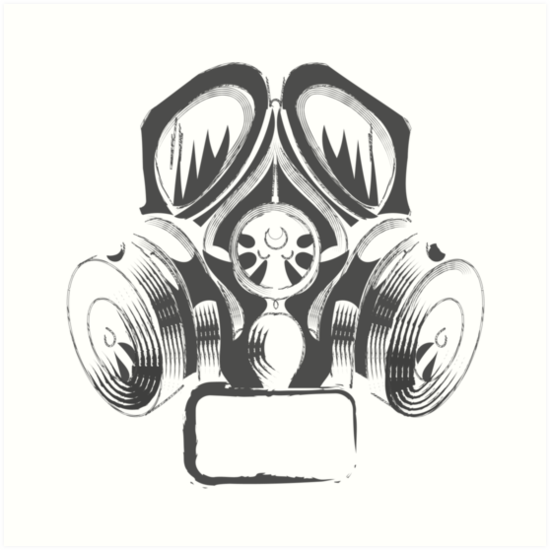 Quot Steampunk Vintage Design Vector Drawing Gas Mask Punk