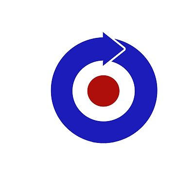 Retro look mod target with arrow by Auslandesign