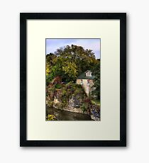Autumn in a village Framed Print