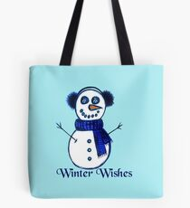 Snowman's Winter Wishes Tote Bag