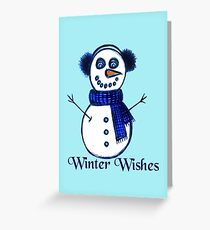Snowman's Winter Wishes Greeting Card
