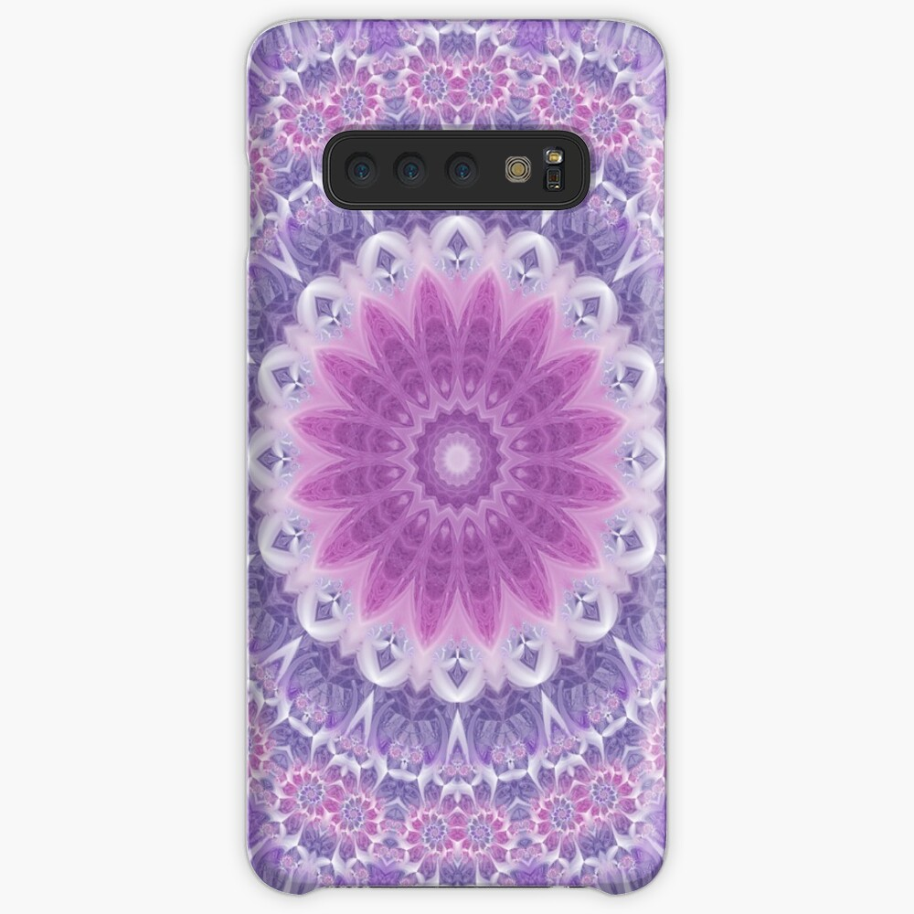 Purple and Pink Fractal Mandala Cases & Skins for Samsung Galaxy