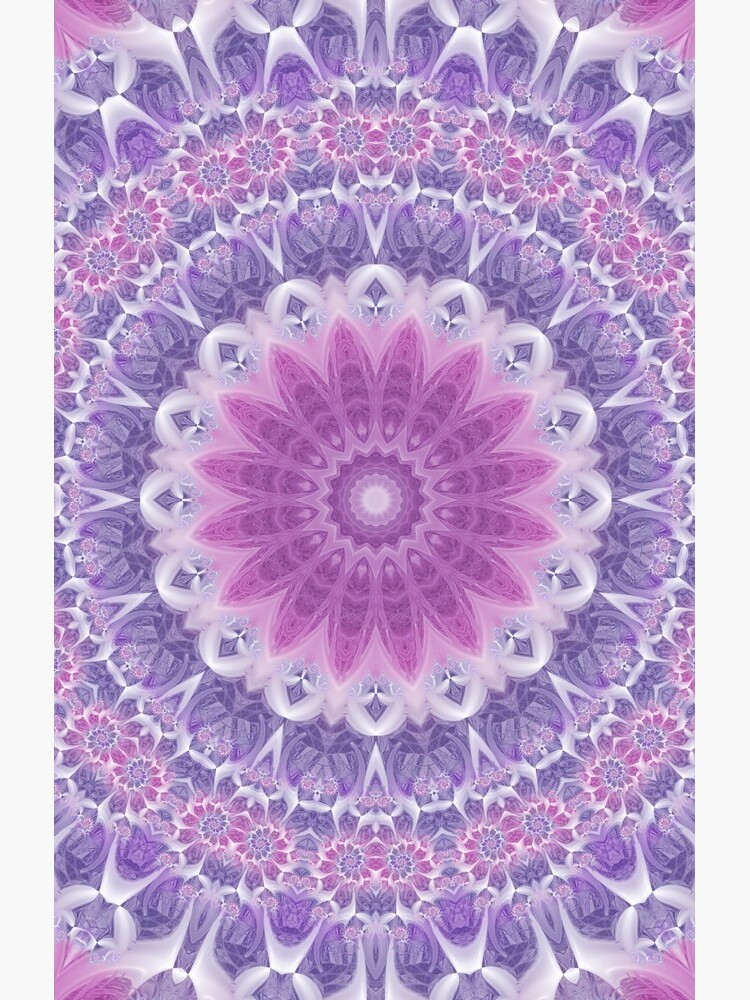 Purple and Pink Fractal Mandala by kellydietrich