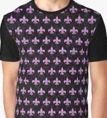 ROYAL1 BLACK MARBLE & PURPLE COLORED PENCIL Graphic T-Shirt