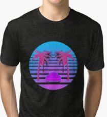 Drive Down Vapor Wave Tri-blend T-Shirt