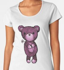 Adorable Teddy Bear Drawing Women's Premium T-Shirt