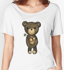 Adorable Teddy Bear Drawing Women's Relaxed Fit T-Shirt