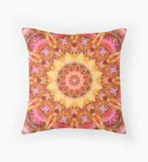 Be Free Mandala in Pink, Yellow and Purple Floor Pillow