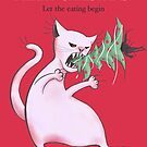 White Fat Cat Eats Christmas Tree by Boriana Giormova