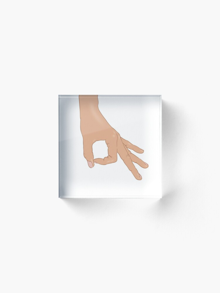 Alternate view of The Circle Finger Game Acrylic Block