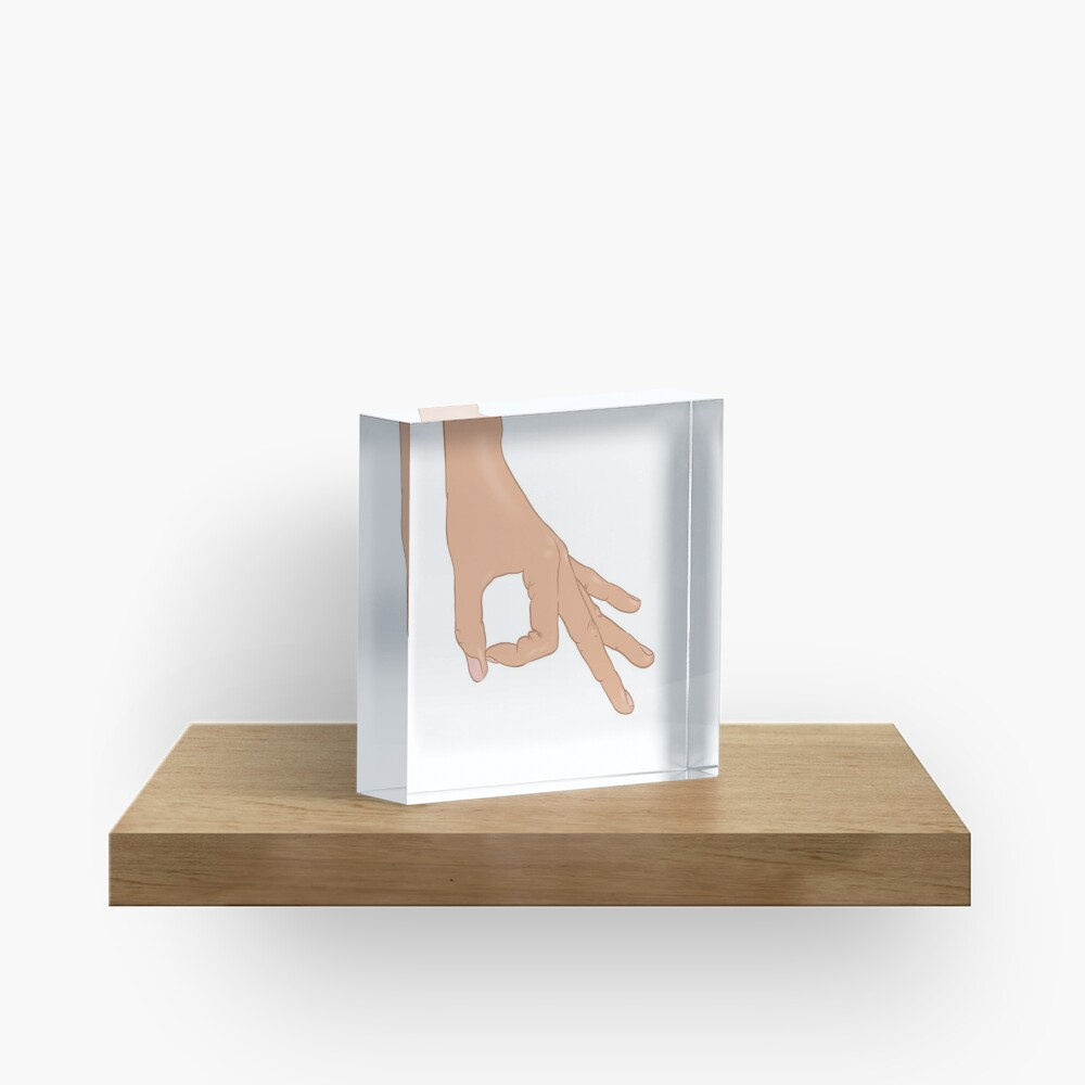 The Circle Finger Game Acrylic Block