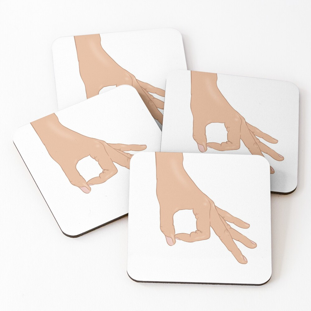 The Circle Finger Game Coasters (Set of 4)