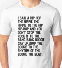 Rappers Delight - Sugar Hill Gang Lyric Art Music Unisex T-Shirt