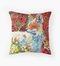 Mamma Fox Throw Pillow
