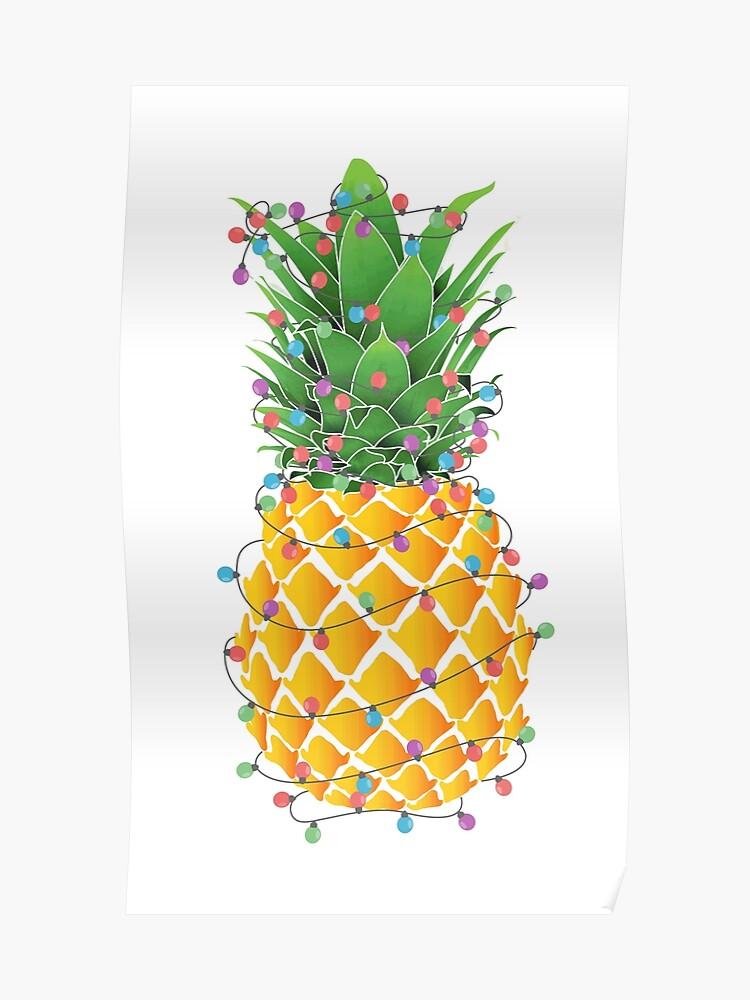 Christmas Pineapple.Pineapple Christmas Tree Poster