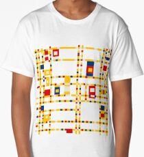 Broadway (Mondrian) Long T-Shirt