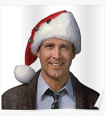 Clark Griswold National Lampoon's 1989 Christmas Vacation movie santa hat Poster
