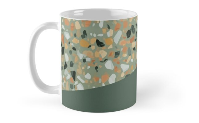 Terrazzo Texture Military Green 4 By Printables Passions